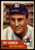 1953 Topps #35 Irv Noren DP VG/EX Very Good/Excellent