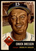 1953 Topps #50 Chuck Dressen DP VG Very Good