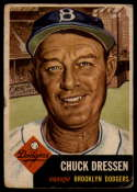 1953 Topps #50 Chuck Dressen DP G/VG Good/Very Good