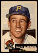 1953 Topps #58 George Metkovich G Good