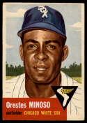 1953 Topps #66 Minnie Minoso UER VG Very Good