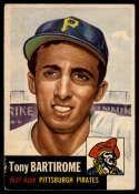 1953 Topps #71 Tony Bartirome VG Very Good