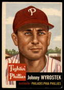 1953 Topps #79 Johnny Wyrostek EX Excellent