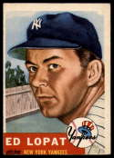 1953 Topps #87 Ed Lopat VG/EX Very Good/Excellent