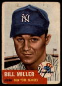 1953 Topps #100 Bill Miller G/VG Good/Very Good