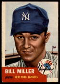 1953 Topps #100 Bill Miller VG/EX Very Good/Excellent