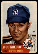 1953 Topps #100 Bill Miller VG Very Good