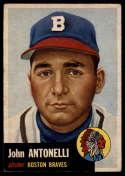 1953 Topps #106 Johnny Antonelli EX Excellent