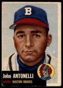 1953 Topps #106 Johnny Antonelli VG/EX Very Good/Excellent