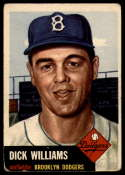 1953 Topps #125 Dick Williams DP G/VG Good/Very Good
