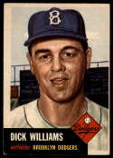 1953 Topps #125 Dick Williams DP VG/EX Very Good/Excellent