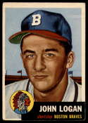 1953 Topps #158 Johnny Logan VG/EX Very Good/Excellent RC Rookie