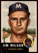 1953 Topps #208 Jim Wilson EX Excellent