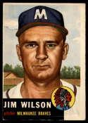 1953 Topps #208 Jim Wilson VG Very Good