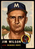 1953 Topps #208 Jim Wilson VG/EX Very Good/Excellent
