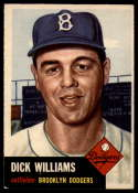 1953 Topps #125 Dick Williams DP EX Excellent