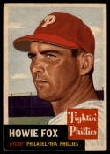 1953 Topps #22 Howie Fox VG/EX Very Good/Excellent