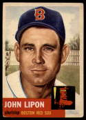 1953 Topps #40 Johnny Lipon VG Very Good