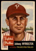 1953 Topps #79 Johnny Wyrostek VG/EX Very Good/Excellent