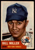 1953 Topps #100 Bill Miller EX Excellent