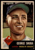 1953 Topps #34 George Shuba EX Excellent