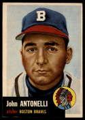 1953 Topps #106 Johnny Antonelli VG Very Good