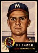 1953 Topps #197 Del Crandall VG Very Good