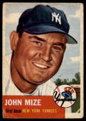 1953 Topps #77 Johnny Mize DP G/VG Good/Very Good
