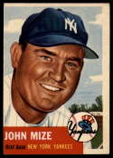 1953 Topps #77 Johnny Mize DP VG/EX Very Good/Excellent
