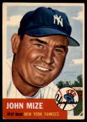 1953 Topps #77 Johnny Mize DP VG Very Good