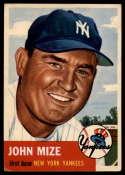 1953 Topps #77 Johnny Mize DP VG Very Good