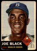 1953 Topps #81 Joe Black G Good SP