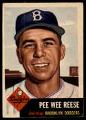 1953 Topps #76 Pee Wee Reese VG/EX Very Good/Excellent