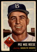 1953 Topps #76 Pee Wee Reese VG Very Good
