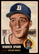 1953 Topps #147 Warren Spahn VG/EX Very Good/Excellent