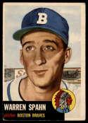 1953 Topps #147 Warren Spahn VG Very Good