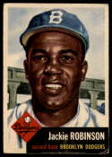 1953 Topps #1 Jackie Robinson DP VG Very Good