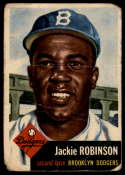 1953 Topps #1 Jackie Robinson DP G Good
