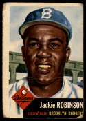 1953 Topps #1 Jackie Robinson DP G/VG Good/Very Good