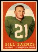 1958 Topps #4 Bill Barnes EX++ Excellent++