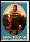 1958 Topps #88 Earl Putman VG Very Good