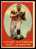 1958 Topps #92 Paige Cothren VG Very Good