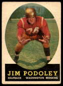1958 Topps #121 Jim Podoley UER VG/EX Very Good/Excellent