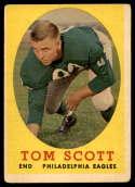 1958 Topps #125 Tom Scott VG Very Good