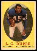 1958 Topps #117 L.G. Dupre VG/EX Very Good/Excellent