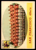 1958 Topps #41 49ers Team VG Very Good