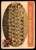 1958 Topps #109 Eagles Team G Good