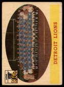 1958 Topps #115 Lions Team G/VG Good/Very Good