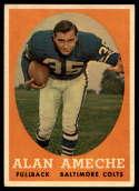 1958 Topps #12 Alan Ameche EX Excellent