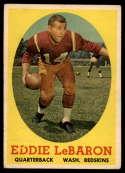 1958 Topps #112 Eddie LeBaron VG/EX Very Good/Excellent